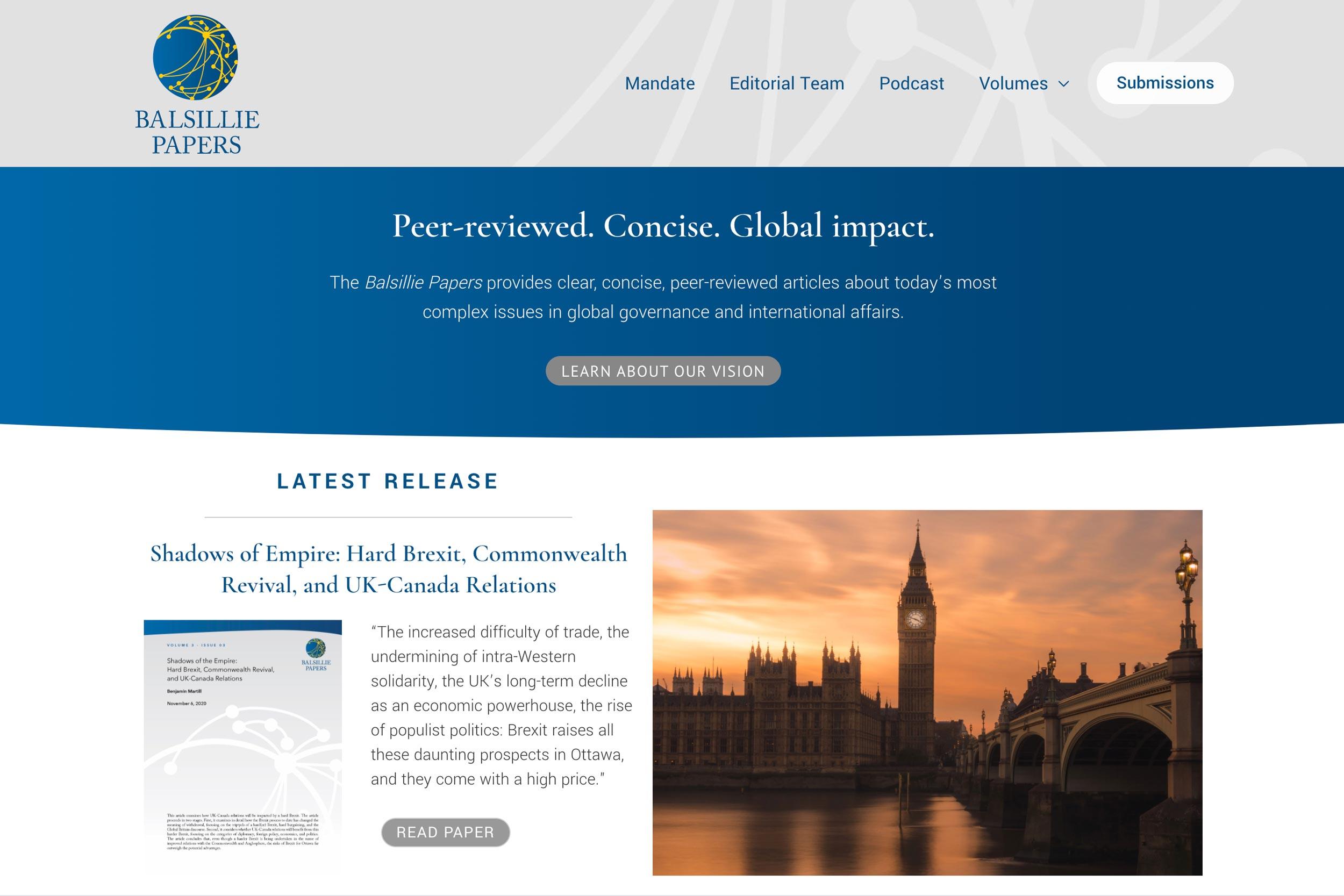 Balsillie Papers website
